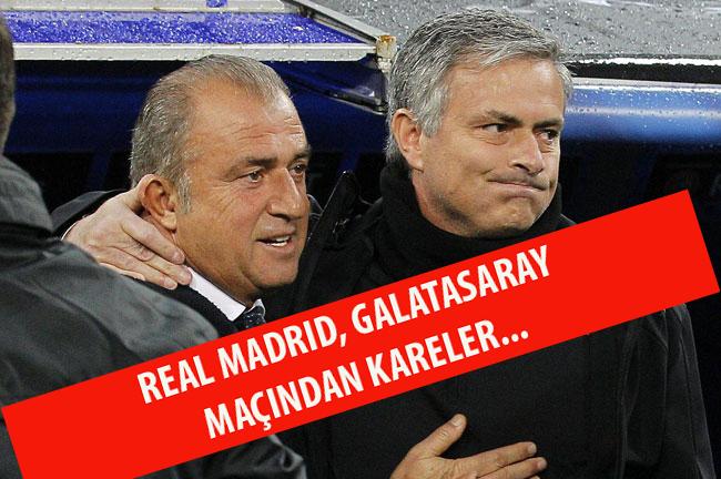 Real Madrid - Galatasaray Maçından Kareler...