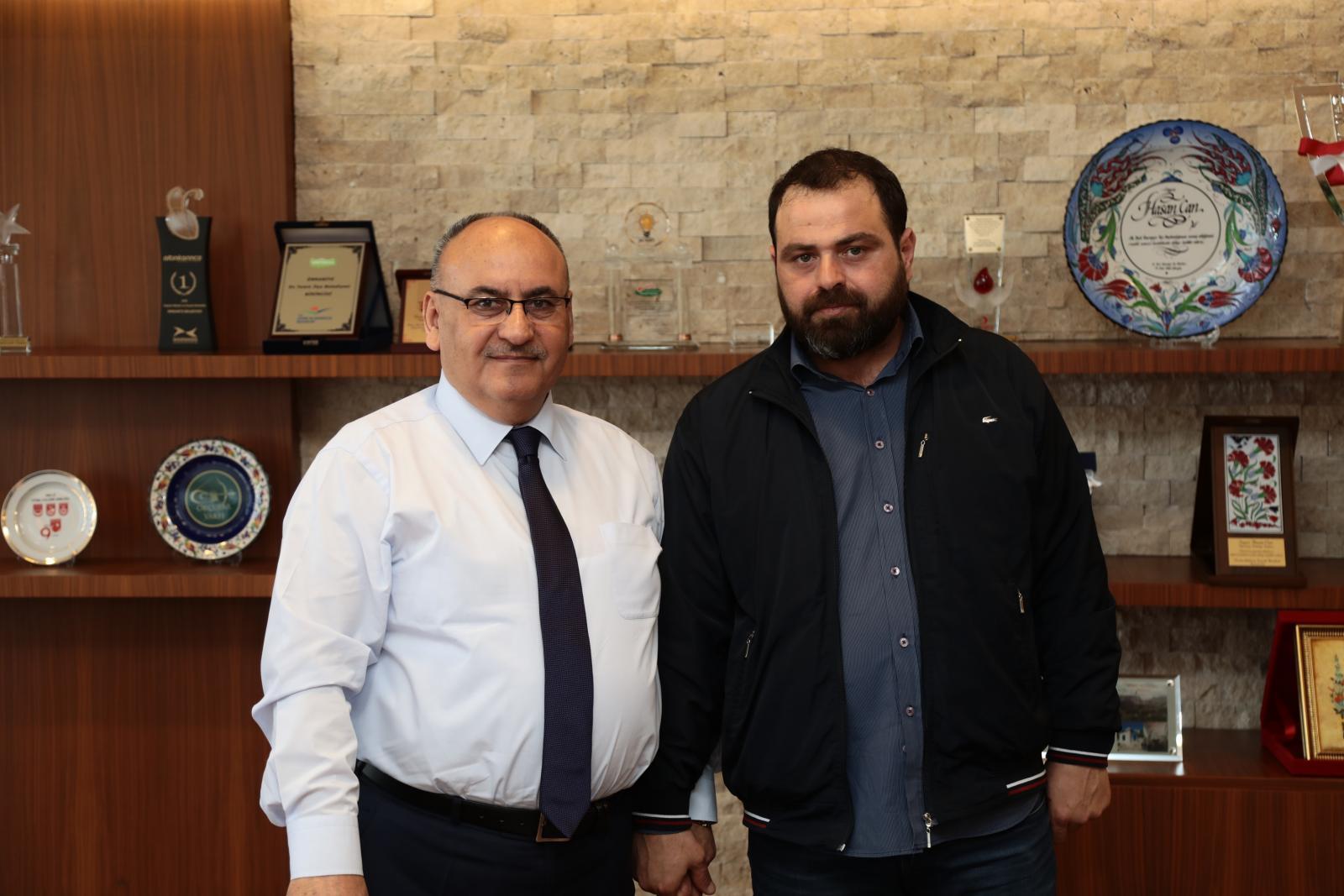 15 Temmuz Gazisi Ünal Şişman'dan Başkan Hasan Can'a Ziyaret