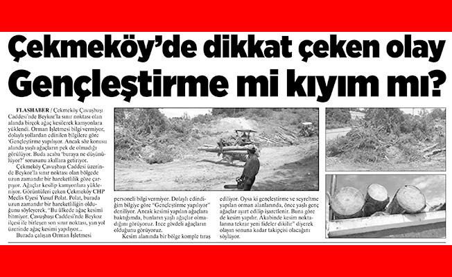 Orman ve Su İşleri Bakanlığı'ndan haberimize açıklama