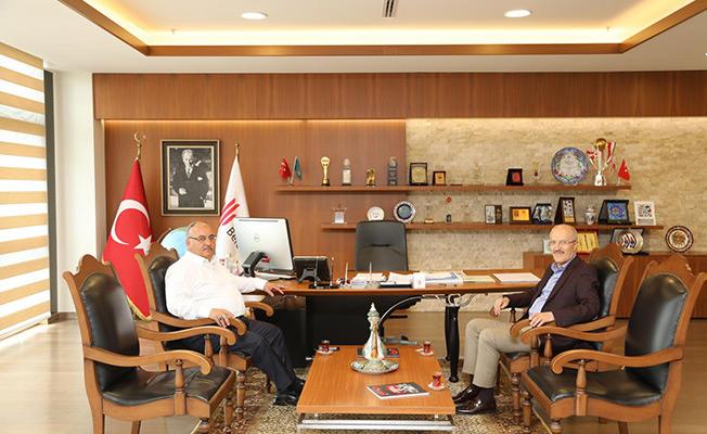Balıkesir Altı Eylül Belediye Başkanı Zekai Kafaoğlu'ndan  Başkan Hasan Can'a ziyaret