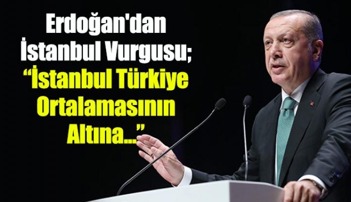 """Erdoğan'dan İstanbul Vurgusu; """"İstanbul Türkiye Ortalamasının Altına..."""""""