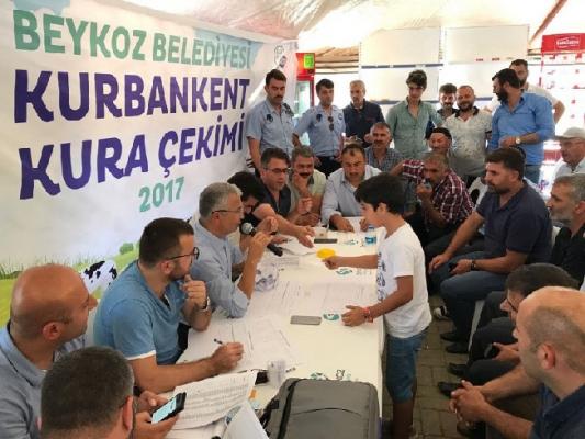 'Kurbankent' çadırlarında kura çekimi yapıldı