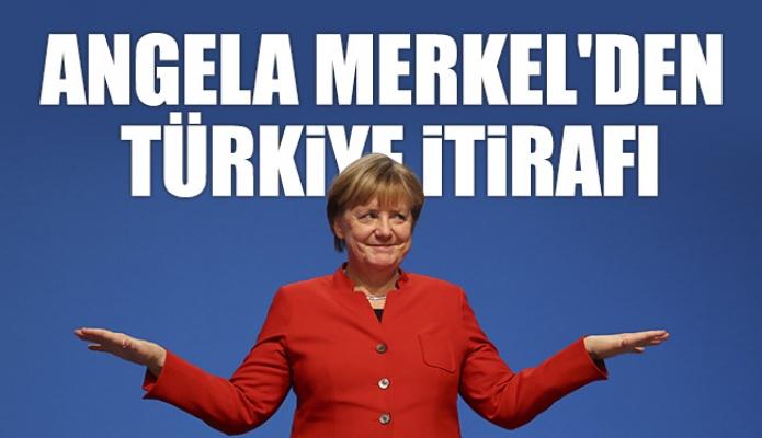 Angela Merkel'den Türkiye İtirafı