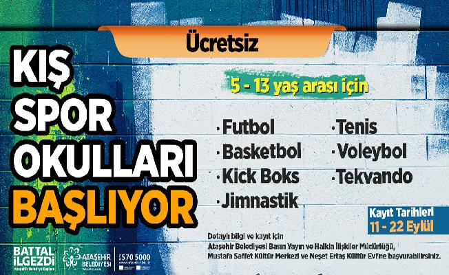 Ataşehir'de Kış Spor Okulu'na Kayıtlar Başlıyor