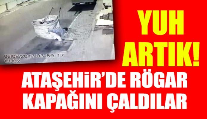 Ataşehir'de rögar kapağını çaldılar