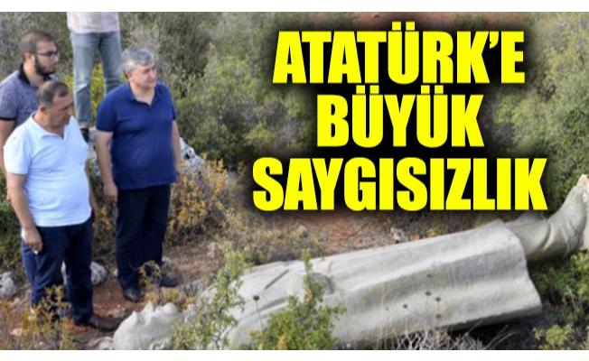 Atatürk'e büyük saygısızlık: Heykel çalılık alanda bulundu