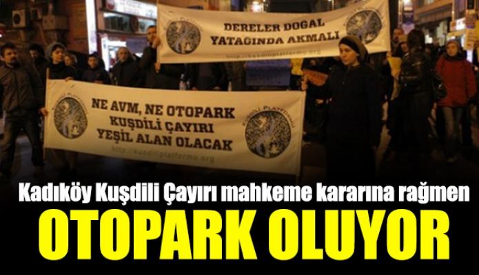 Kadıköy Kuşdili Çayırı mahkeme kararına rağmenotopark oluyor