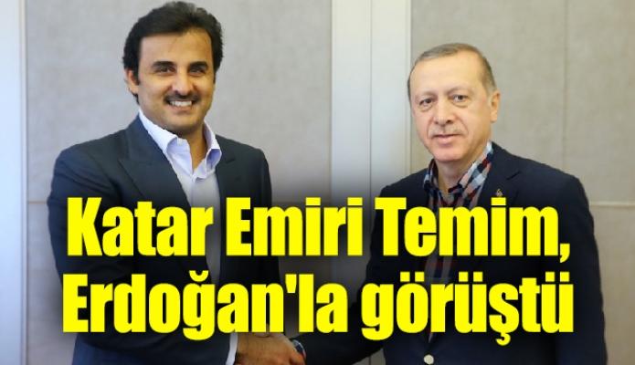 Katar Emiri Temim, Erdoğan'la görüştü