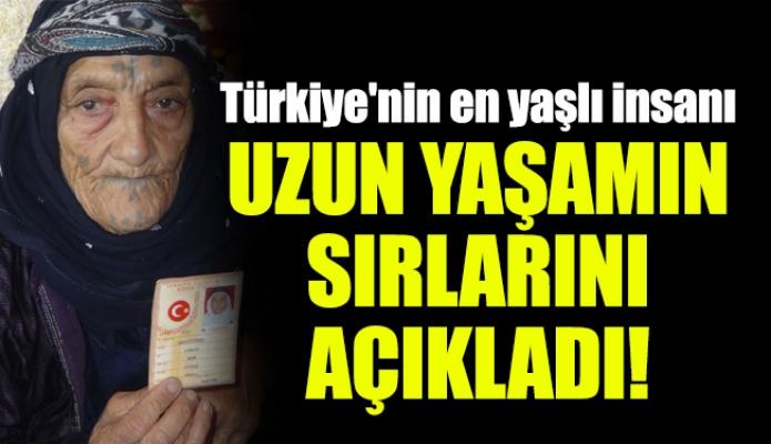Türkiye'nin en yaşlı insanı uzun yaşamın sırlarını açıkladı!