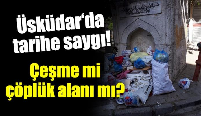 Üsküdar'da tarihe saygı!Çeşme mi çöplük alanı mı?