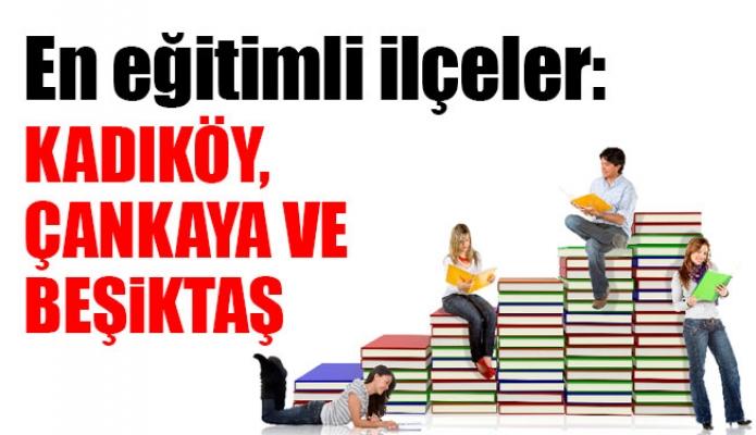 En eğitimli ilçeler: Kadıköy, Çankaya ve Beşiktaş