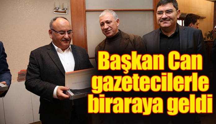 Başkan Hasan Can gazetecilerle biraraya geldi