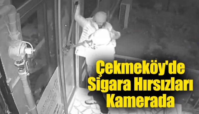 Çekmeköy'de Sigara Hırsızları Kamerada