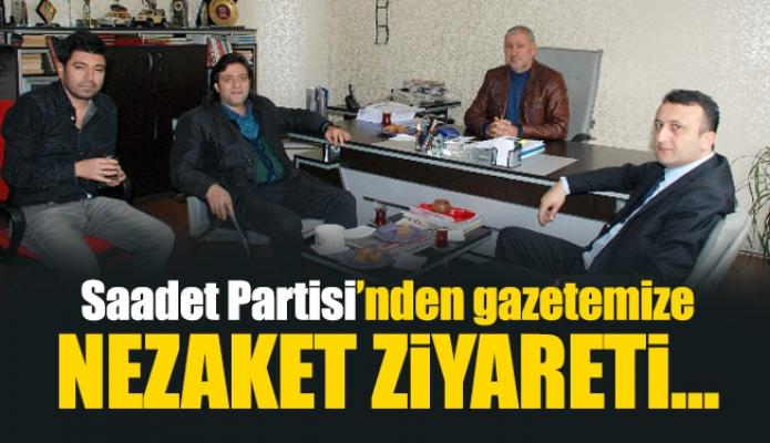Saadet Partisi'nden gazetemizenezaket ziyareti...