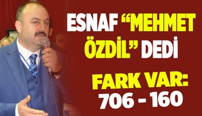 "ESNAF ""MEHMET ÖZDİL"" DEDİ"