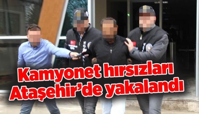Kamyonet hırsızları Ataşehir'de yakalandı