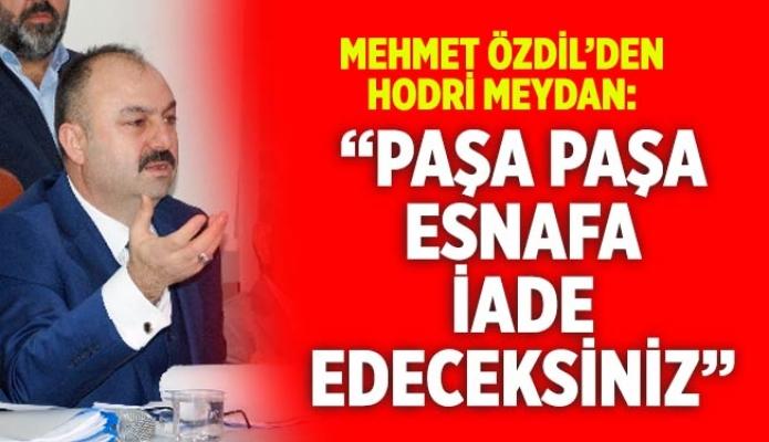 """Mehmet Özdil'den Hodri Meydan: """"Paşa Paşa Esnafa İade Edeceksiniz"""""""