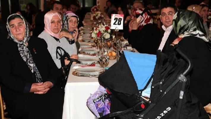 Şehit ve Gazi Aileleri yemekte buluştu