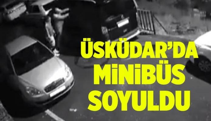 Üsküdar'da minibüs soyuldu