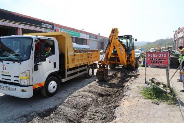 Şile Sanayi Sitesi alt yapısı yenileniyor