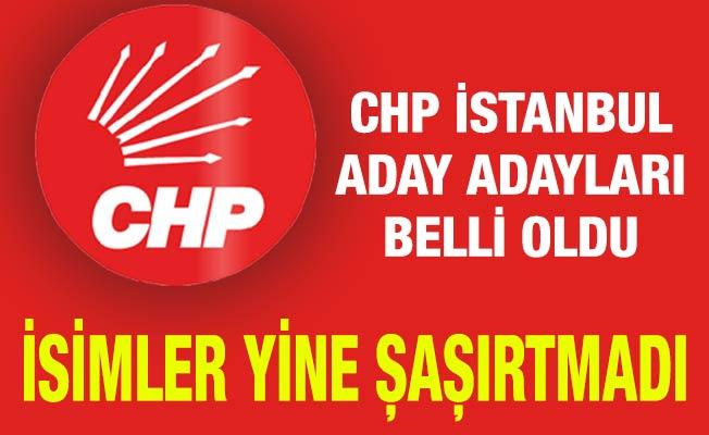 CHP İstanbul Aday Adayları Belli Oldu.İsimler Yine Şaşırtmadı