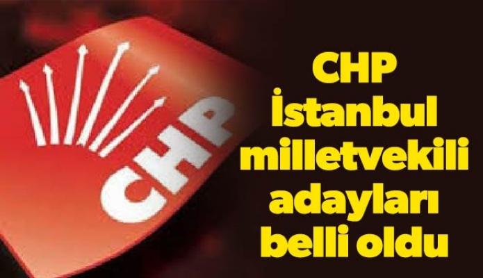 CHP İstanbul milletvekili adayları belli oldu