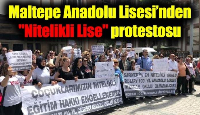 """Maltepe Anadolu Lisesi'nden """"Nitelikli Lise"""" protestosu"""