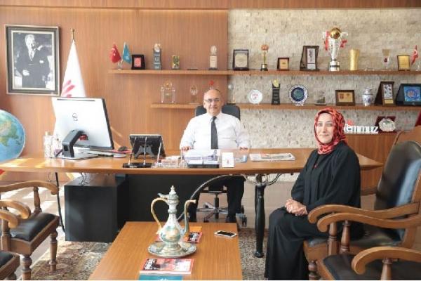 Necla Alçelik'ten Başkan Hasan Can'a veda ziyareti