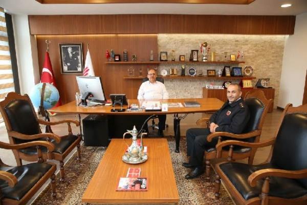 Ümraniye Cezaevi Bölük Komutanı'ndan Başkan Hasan Can'a ziyaret