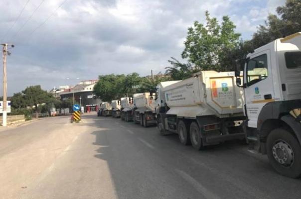 Avşa Adası'nda yollar asfaltlandı