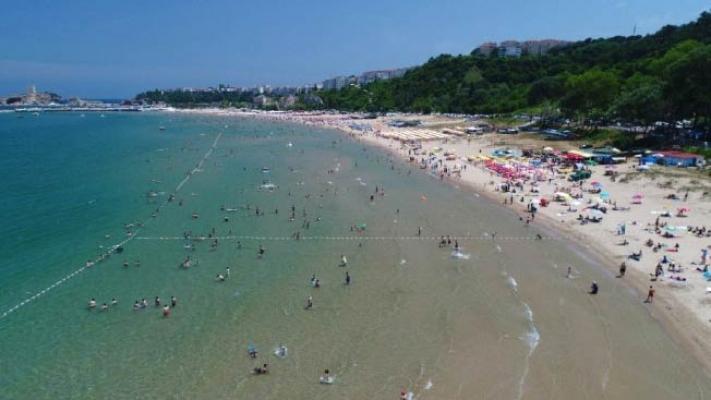 Bayramda Şile plajı doldu, taştı