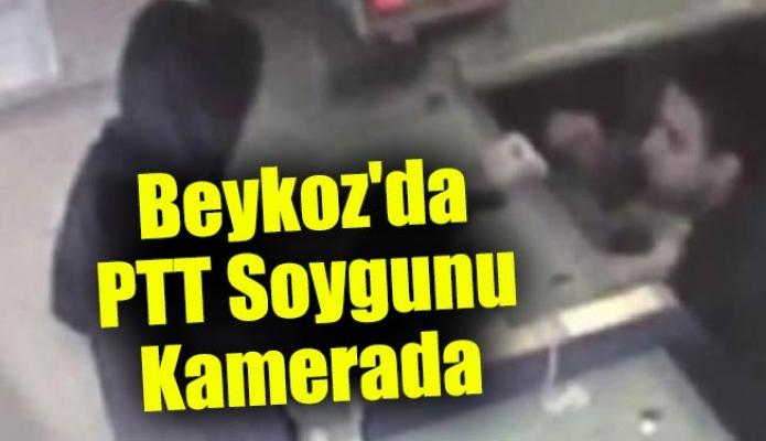 Beykoz'da PTT Soygunu Kamerada