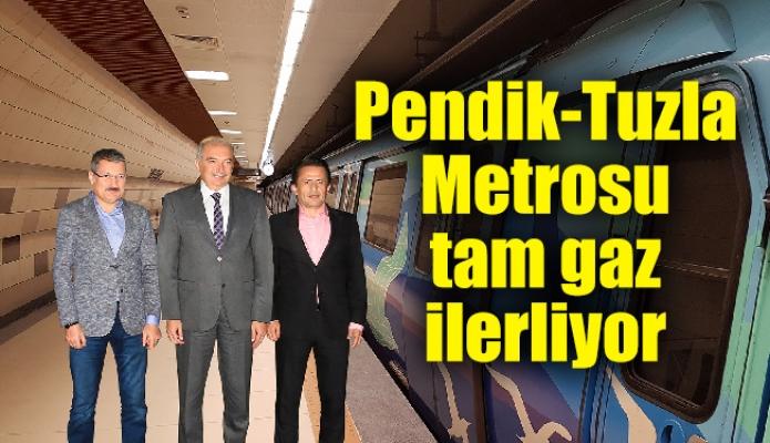 Pendik-Tuzla Metrosu tam gaz ilerliyor