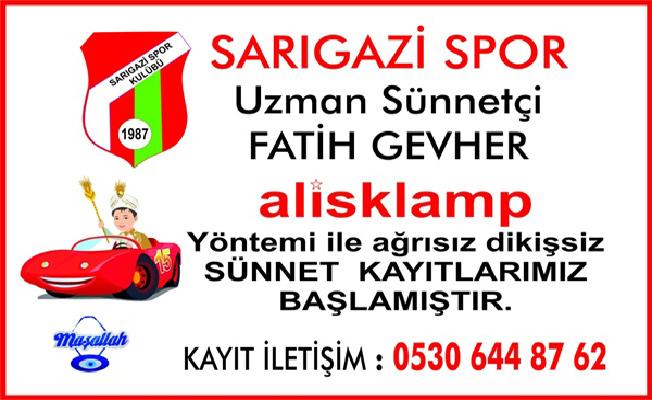 Sarıgazispor'dan örnek hizmet…Sünnet şöleni kayıtları devam ediyor