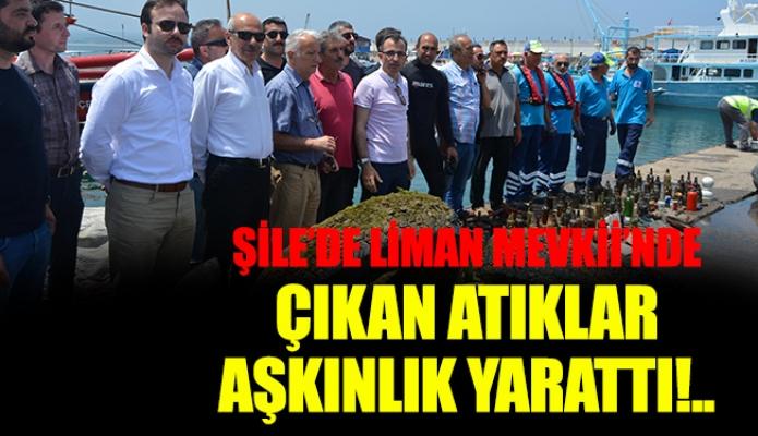 ŞİLE'DE LİMAN MEVKİİ'NDE ÇIKAN ATIKLAR ŞAŞKINLIK YARATTI!..