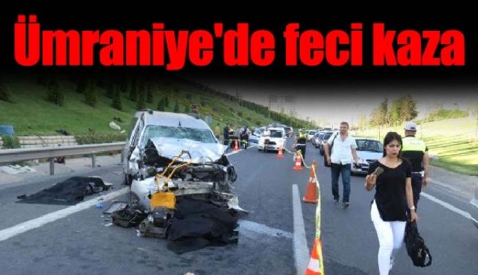 Ümraniye'de feci kaza