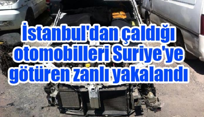 İstanbul'dan çaldığı otomobilleri Suriye'ye götüren zanlı yakalandı