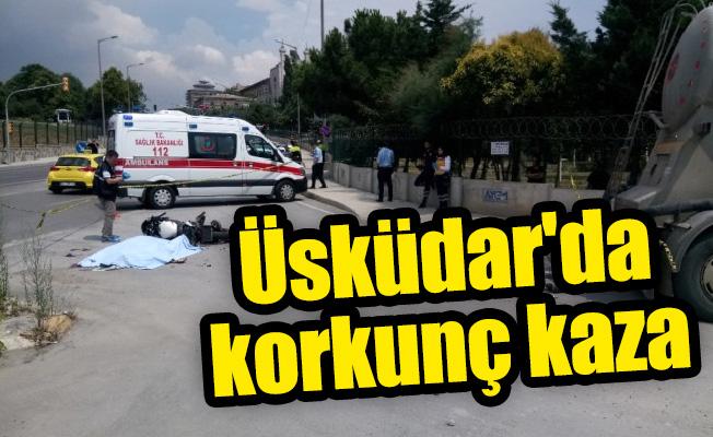 Üsküdar'da trafik kazası: 1 ölü