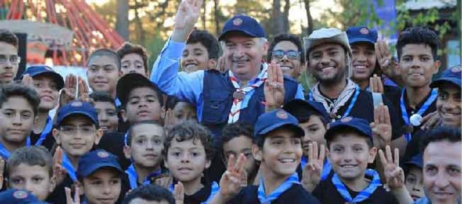 Başkan Uysal, 15 ülkeden gelen izcilerle kampta buluştu