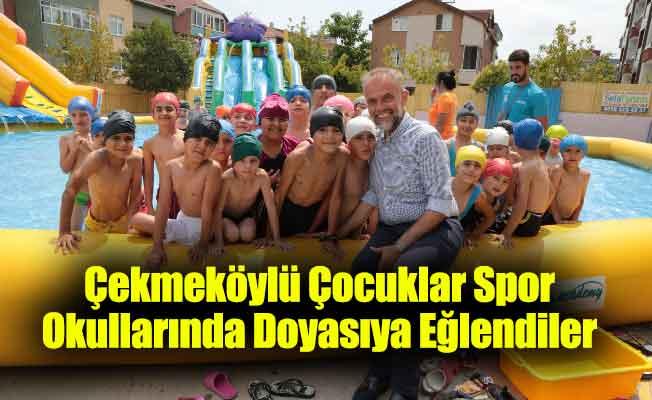 Çekmeköylü Çocuklar Spor Okullarında Doyasıya Eğlendiler