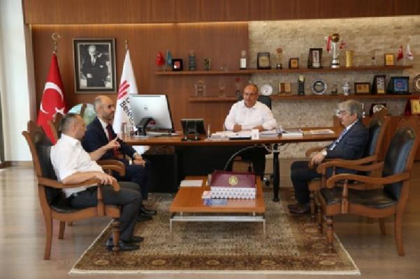 İGDAŞ Genel Müdür Yardımcılarından Başkan Hasan Can'a ziyaret