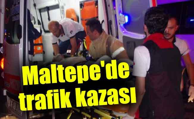 Maltepe'de trafik kazası : 1 ölü 2 yaralı