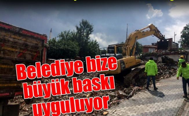 Üsküdar Kirazlıtepe'deki mahalleli direniyor: Belediye bize büyük baskı uyguluyor