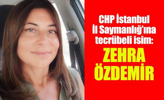 CHP İstanbul İl Saymanlığ'ına tecrübeli isim:Zehra Özdemir