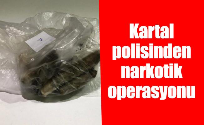 Kartal polisinden narkotik operasyonu