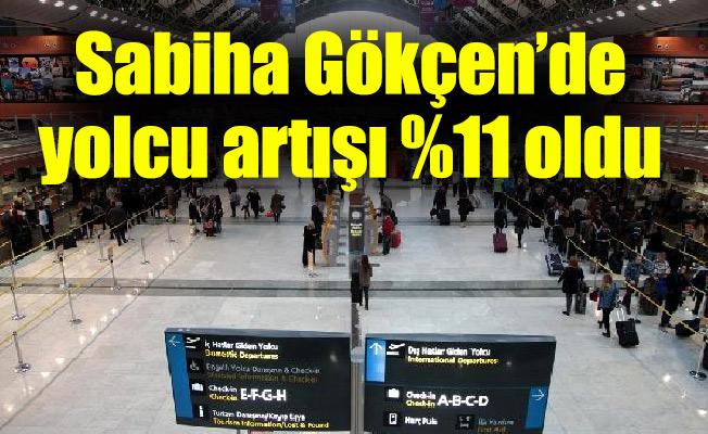 Sabiha Gökçen'de yolcu artışı %11 oldu