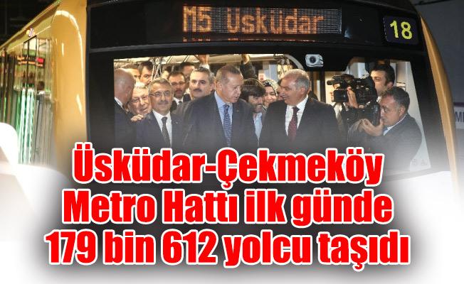 Üsküdar-Çekmeköy Metro Hattı ilk günde179 bin 612 yolcu taşıdı
