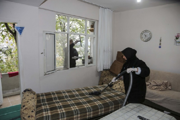 Beykoz Belediyesinden evlere temizlik ve tadilat hizmeti