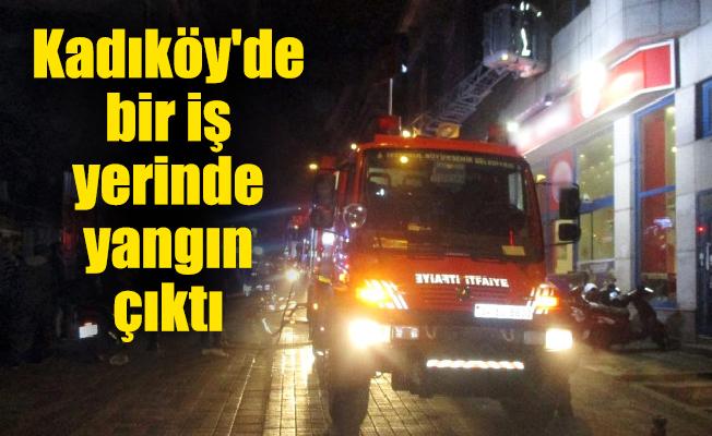 Kadıköy'de bir iş yerinde yangın çıktı