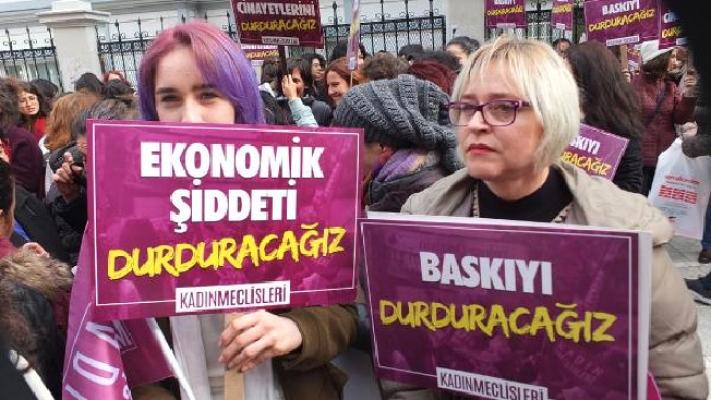 Kadıköy'de kadına şiddet eylemi